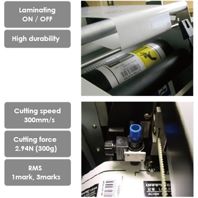 graphtec lcx603 label printer - cutting laminating process