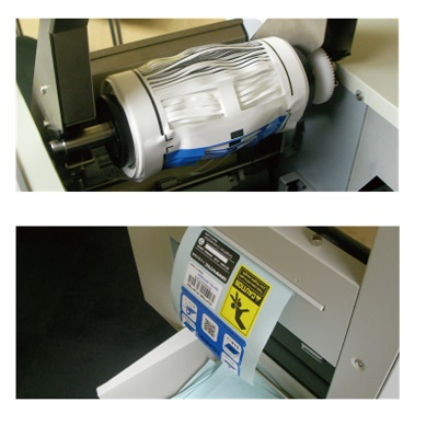 graphtec lcx603 label printer - finishing process