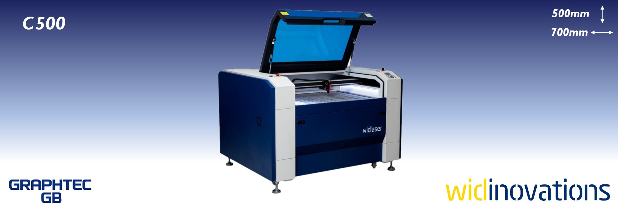 wid inovations - widlaser c500 - banner